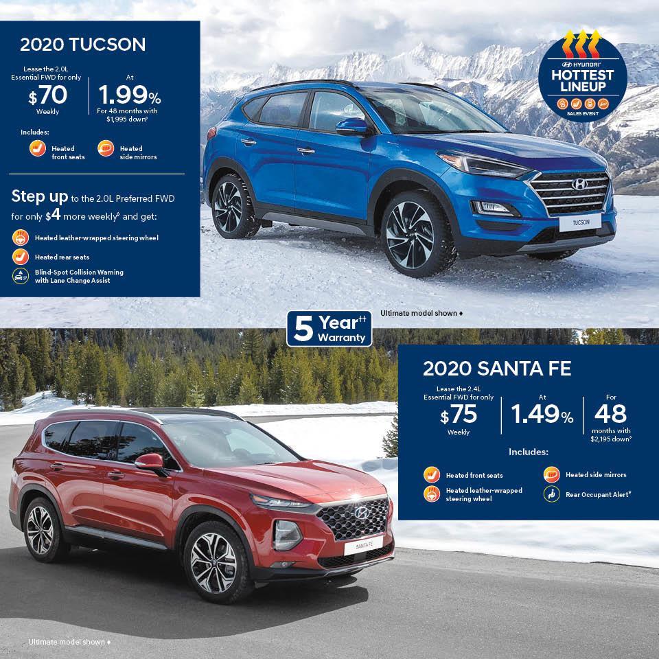 Hyundai Hottest Lineup Sales Event, 2020 Tucson, 2020 Santa Fe at Guelph Hyundai
