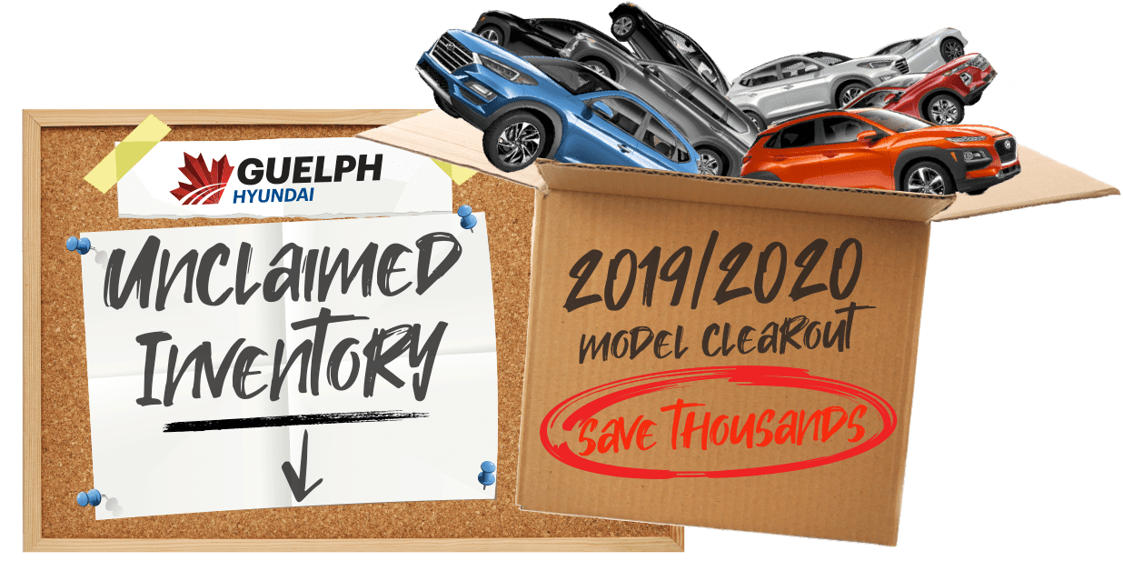 Unclaimed Inventory Clearout Guelph Hyundai in 765 Woodlawn Rd. W